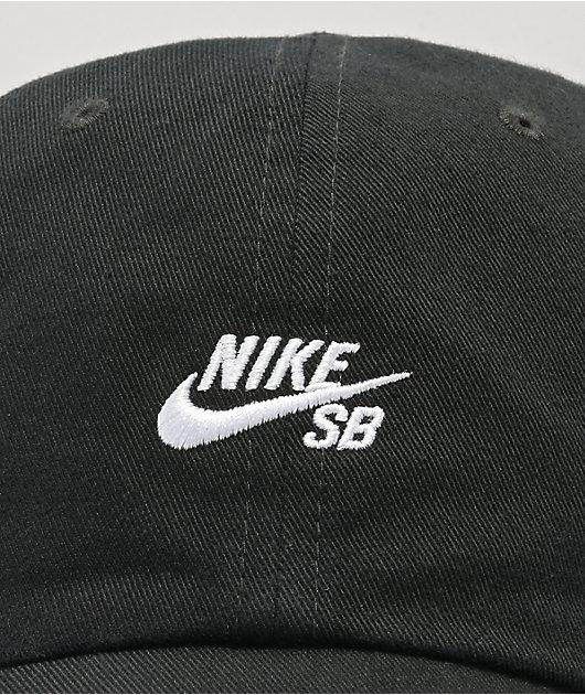 Nike SB Heritage 86 Logo Black Strapback Hat