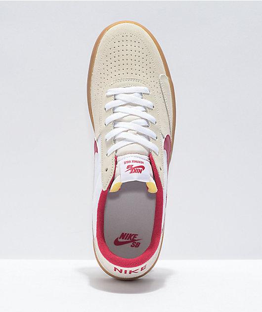 Nike SB Heritage Summit White & Red Skate Shoes
