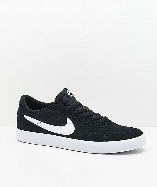 Nike SB Heritage Vulc Black & White Skate Shoes