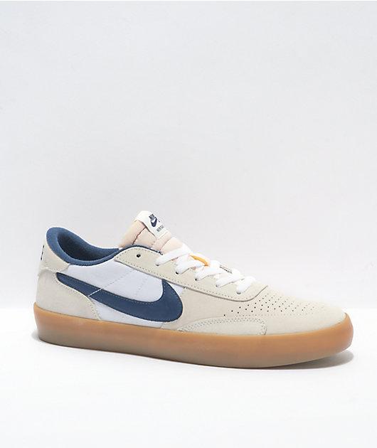 Nike SB Heritage Vulc White, Navy, & Gum Skate Shoes
