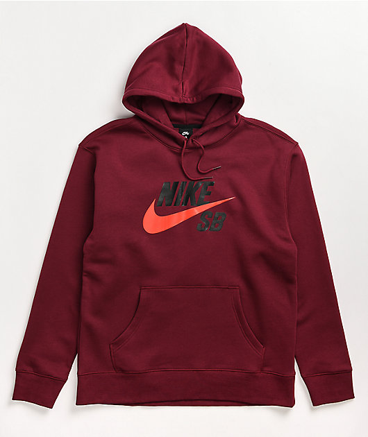 Nike SB Icon Chile Red Hoodie