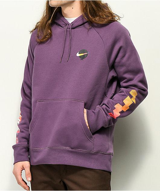 Nike SB Icon Graphic Purple Hoodie | Zumiez