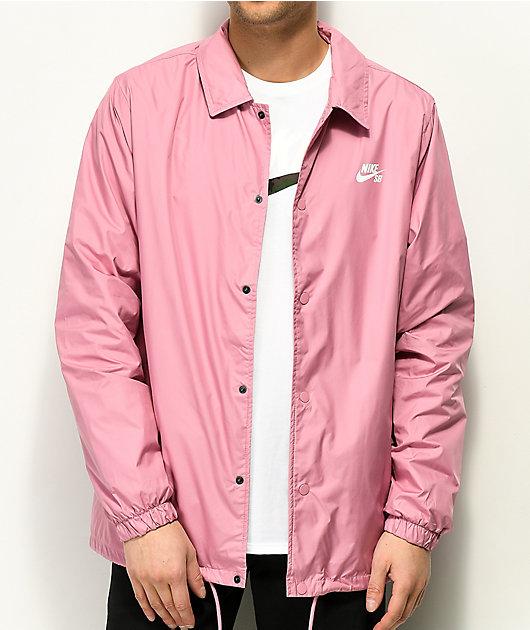 Medición Influencia datos  Nike SB Icon Shield chaqueta entrenador rosa | Zumiez
