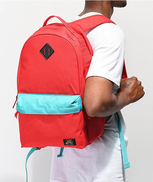 Nike SB Icon mochila roja y turquesa
