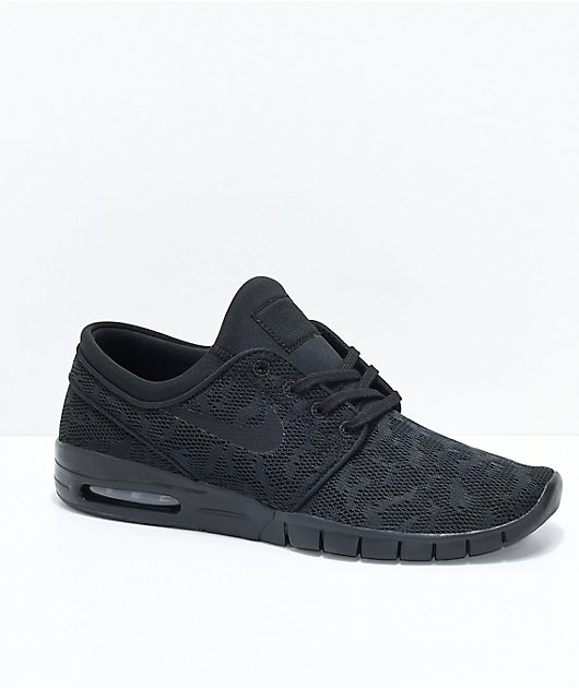 Nike SB Janoski Air Max All Black Skate Shoes