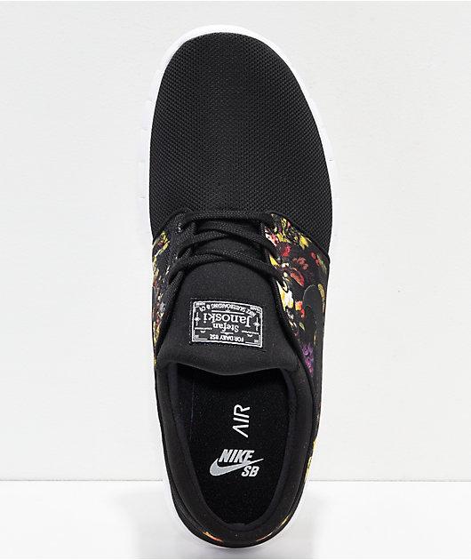 Nike SB Janoski Air Max zapatos negros y florales