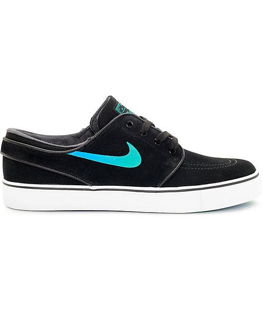 Nike SB Janoski Black & Hombre Blue Suede Women's Skate Shoes