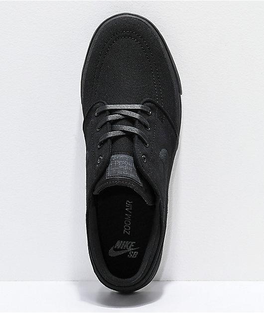 Nike SB Janoski Black Canvas Skate Shoes