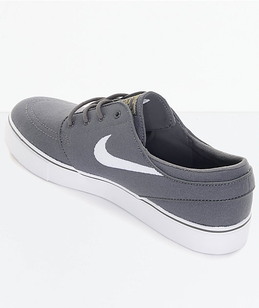 Nike SB Janoski Canvas Grey & White Skate Shoes