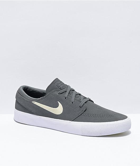 Nike SB Janoski Iron Grey & White Skate Shoes
