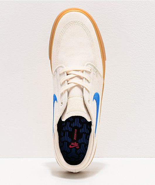 Nike SB Janoski Ivory & Gum Canvas Skate Shoes