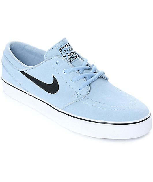 Nike SB Janoski Light Armory Blue Suede Women's Skate Shoes