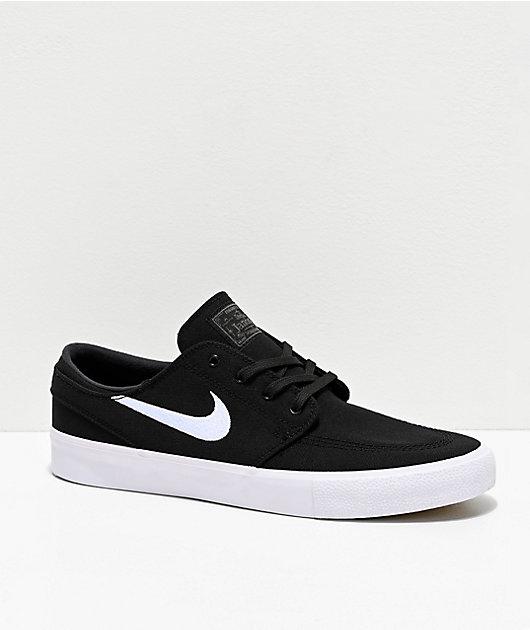 global Fragua yo lavo mi ropa  Nike SB Janoski RM Black & White Canvas Skate Shoes | Zumiez