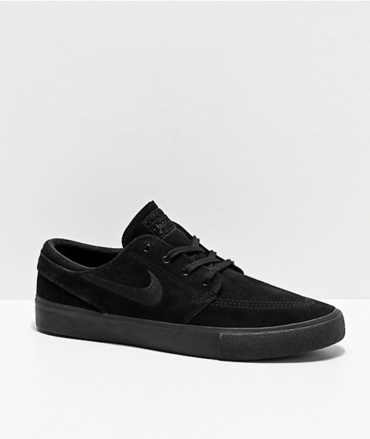Nike SB Janoski RM Black Suede Skate Shoes