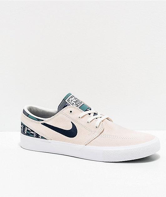 Tomar medicina Encommium grava  Nike SB Janoski RM Patchwork Summit White & Blue Skate Shoes | Zumiez