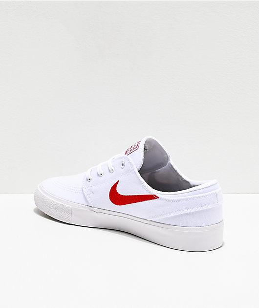Nike SB Janoski RM White & Varsity Red Skate Shoes