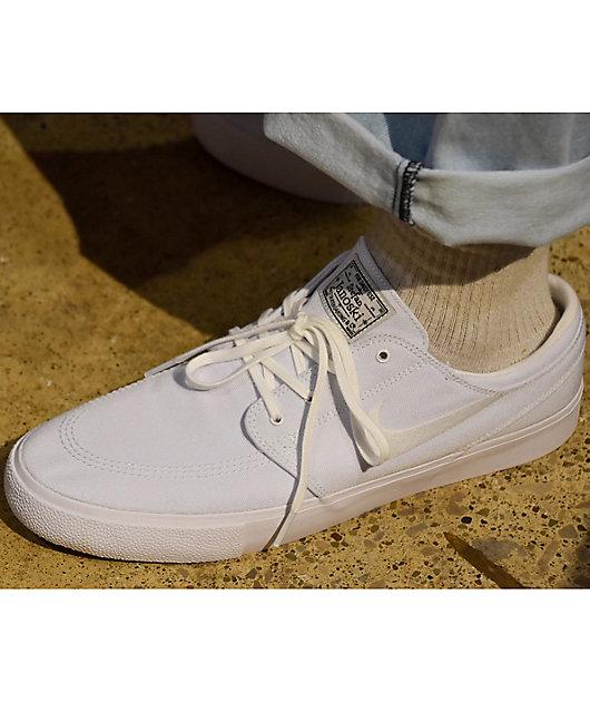 Nike SB Janoski RM White Canvas Skate Shoes