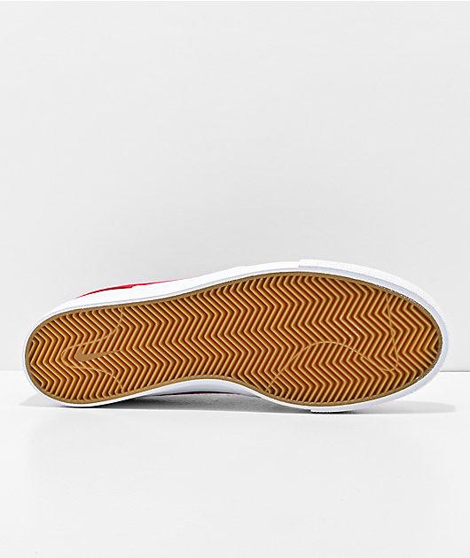 Nike SB Janoski Red & White Canvas Skate Shoes