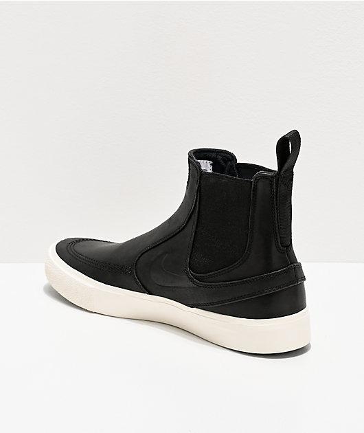 Nike Sb Janoski Slip Mid Rm Black White Skate Shoes Zumiez