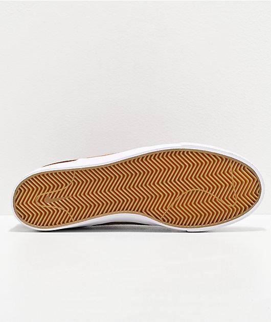 Nike SB Janoski Tan & British zapatos de skate de ante rojo