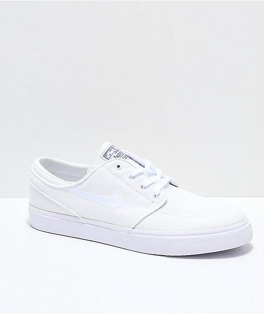 white canvas skate shoes