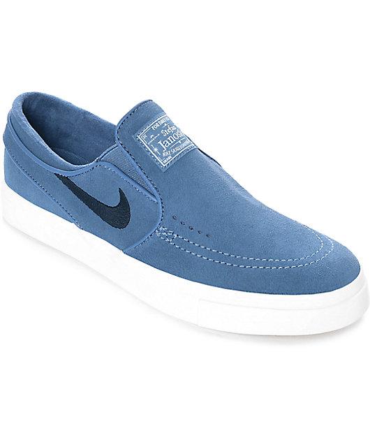 región deseo cuscús  Nike SB Janoski zapatos de skate de ante azul para mujeres | Zumiez