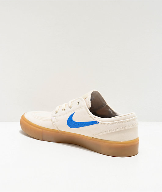 Nike SB Janoski zapatos de skate de lienzo blanco y goma