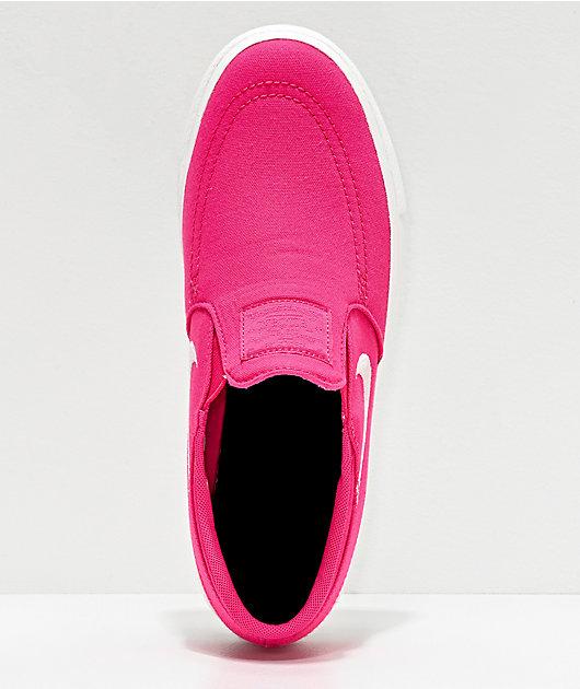Nike SB Janoski zapatos de skate sin cordones en rosa sandía