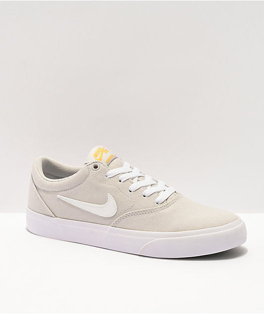 Nike SB Kids Charge Grey & White Skate Shoes