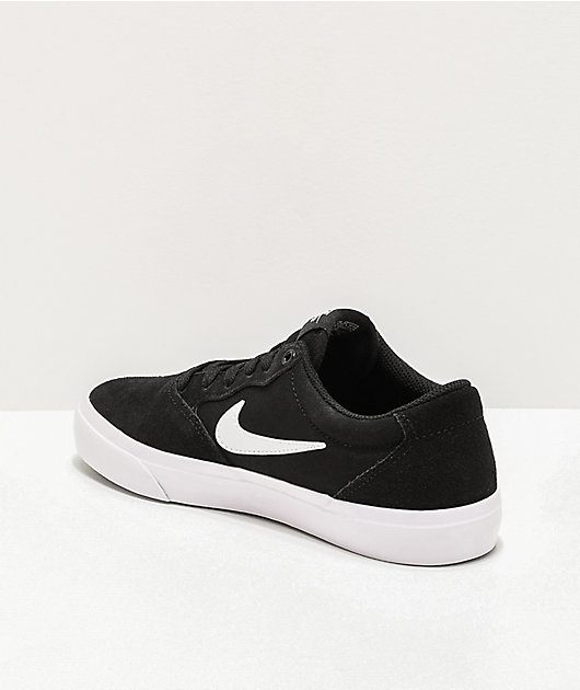 Nike SB Kids Chron GS Black & White Skate Shoes