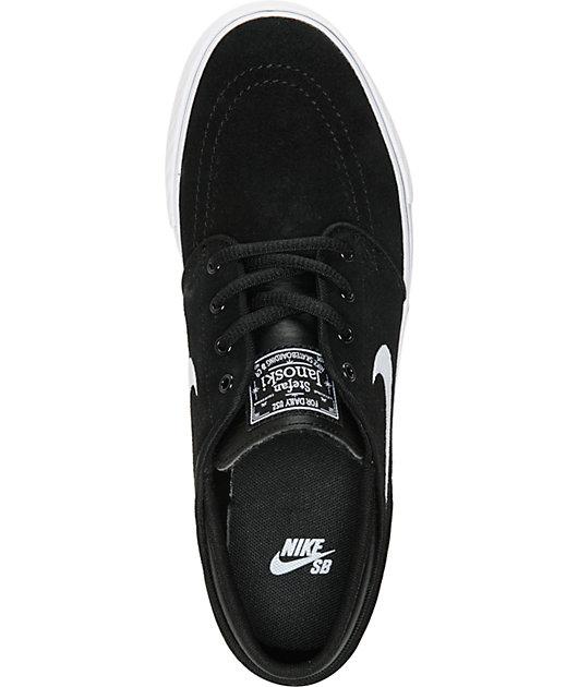 Nike SB Kids Janoski Black & White Skate Shoes