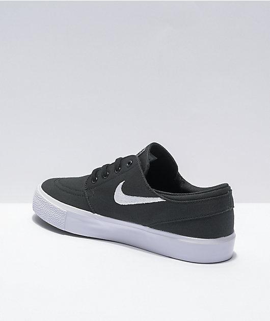 Nike SB Kids Janoski Black Canvas Skate Shoes