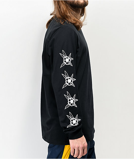 Nike SB Luck Floral Black Long Sleeve T-Shirt