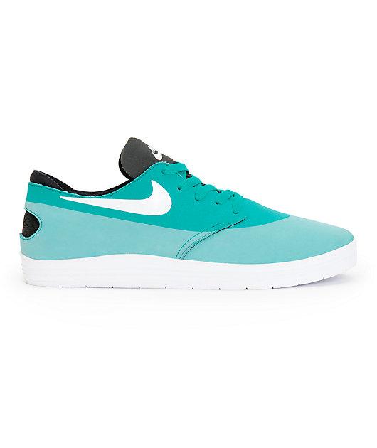 Nike SB Lunar Oneshot Turbo Green, White, & Black Shoes