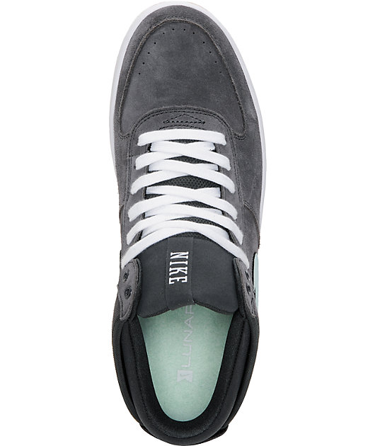 postre software Musgo  Nike SB Mavrk Mid 3 Anthracite & Teal Suede Skate Shoes | Zumiez