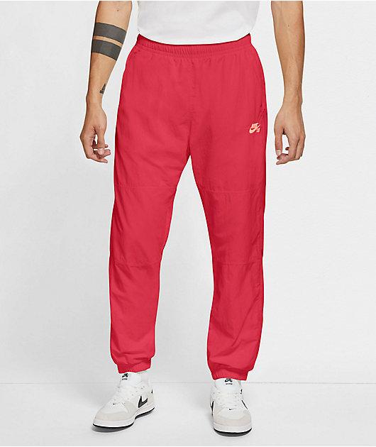 Nike SB Novelty Fusion Red Track Pants