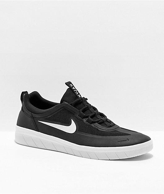 béisbol Es Pantano  Nike SB Nyjah Free 2.0 Black & White Skate Shoes | Zumiez