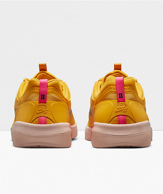 Nike SB Nyjah Free 2.0 Rawdacious Pollen & Pink Blast Skate Shoes