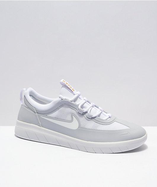 Nike SB Nyjah Free 2.0 Sky Grey & White Skate Shoes