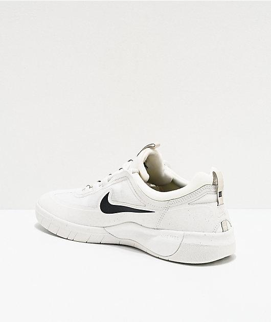 Nike SB Nyjah Free 2.0 Summit White Skate Shoes