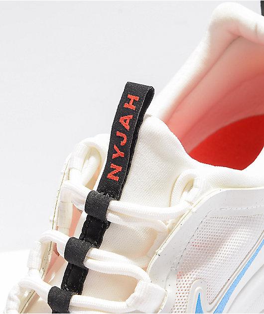 Nike SB Nyjah Free 2.0 White, Blue, & Red Skate Shoes