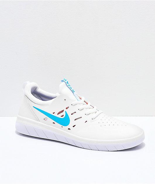 Nike SB Nyjah Free Summit White, Blue