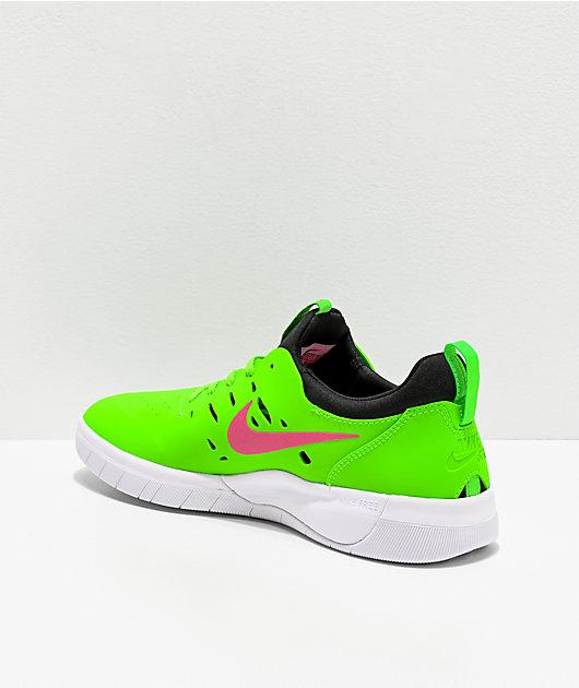 Nike SB Nyjah Free Watermelon Green & Pink Skate Shoes