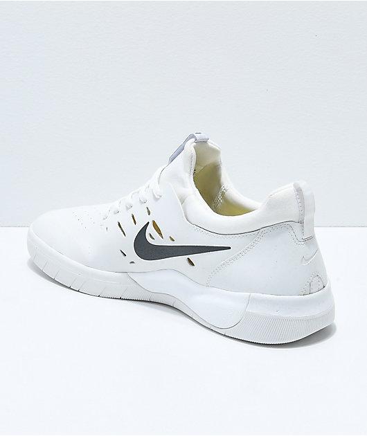 Nike SB Nyjah Free White Skate Shoes