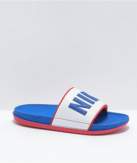 Nike SB Offcourt Game Royal & White Slide Sandals