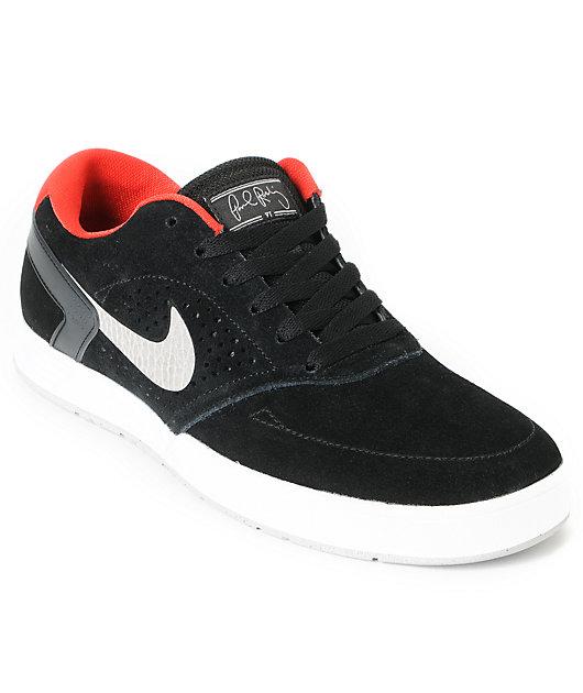 juguete Asentar Puntero  Nike SB P-Rod 6 Lunarlon Black & Grey Skate Shoes | Zumiez