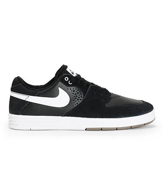Potencial Intentar Dispuesto  Nike SB Paul Rodriguez 7 Black & White Skate Shoes   Zumiez