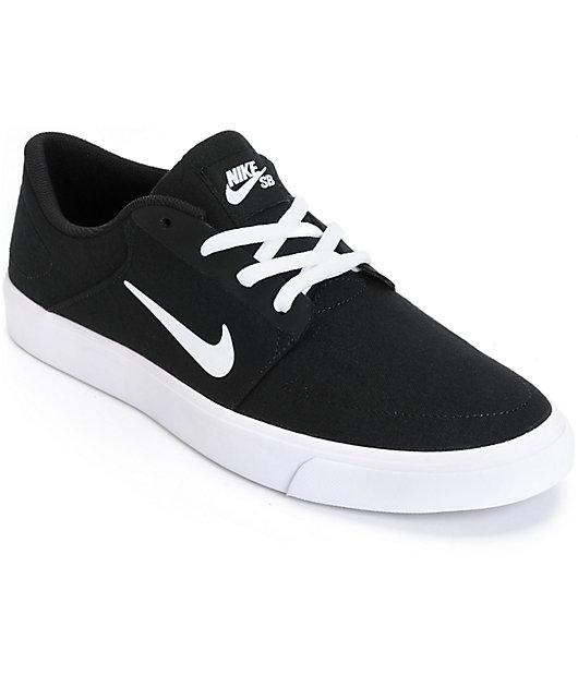 Nike SB Portmore Black \u0026 White Skate