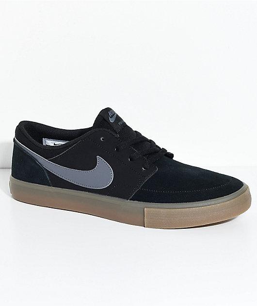 Diagnosticar Enfriarse Intolerable  Nike SB Portmore II Black & Gum Shoes | Zumiez