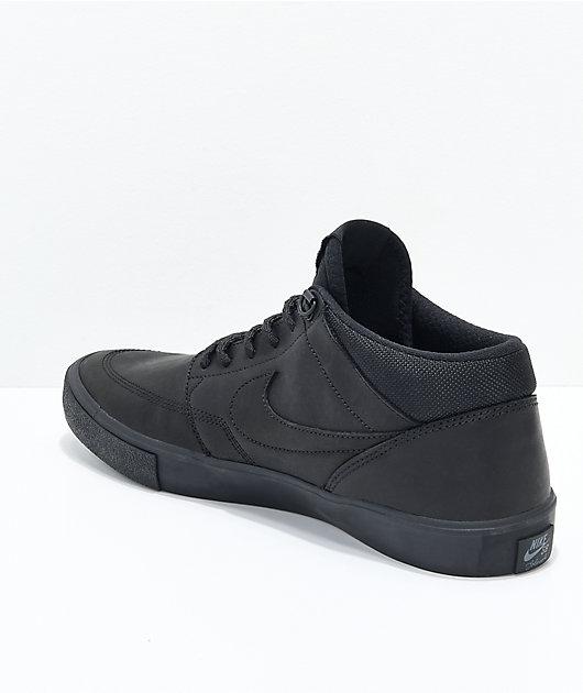 quartiere Missione Premier  Nike SB Portmore II Mid Premium Bota Black Skate Shoes | Zumiez